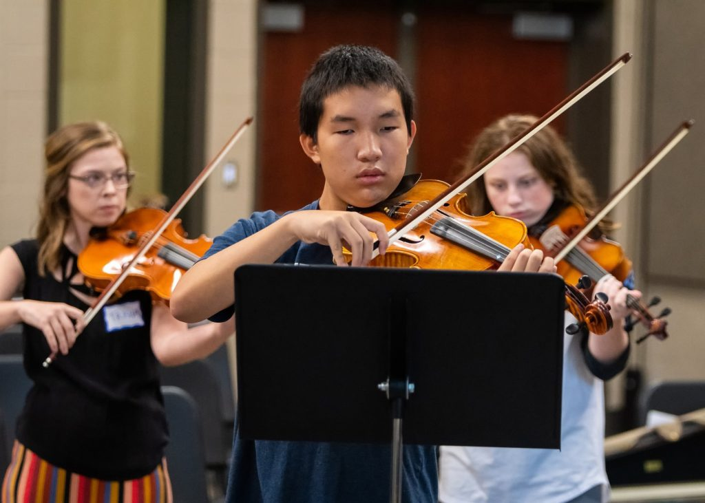students participating in viola day